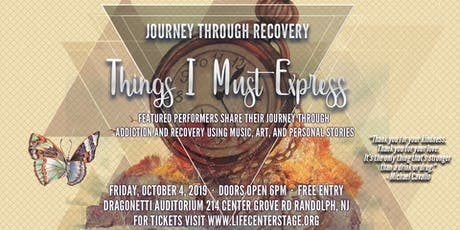 Journey Through Recovery TIME: Things I Must Express - Music & Storytelling tickets
