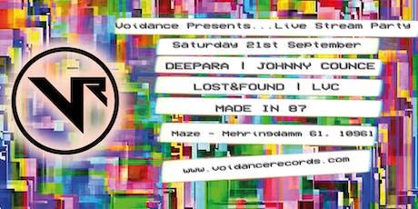 Voidance Presents Live Stream Party Tickets