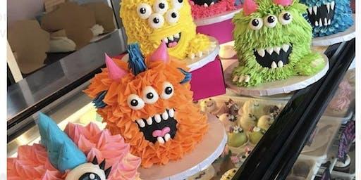 Halloween Monster cake decorating class