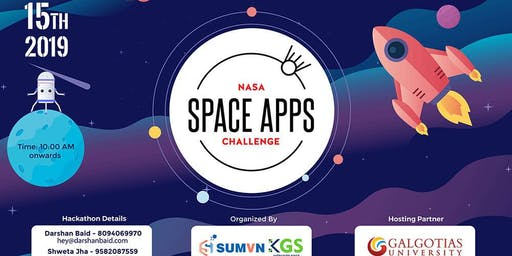 NASA Space Apps Challenge India Pre-Hackathon 2019 - Galgotias University [Delhi NCR]