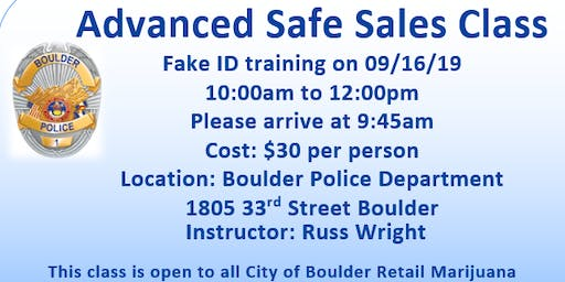 Advanced Safe Sales Class