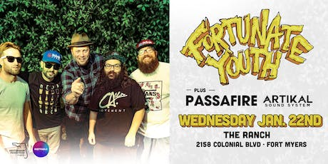 FORTUNATE YOUTH & PASSAFIRE w/ ARTIKAL SOUND SYSTEM - Fort Myers tickets