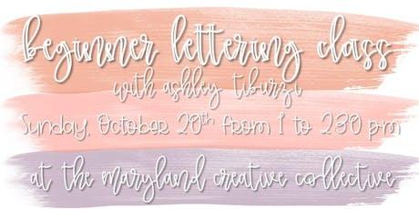 Beginner Lettering Workshop: Baltimore tickets