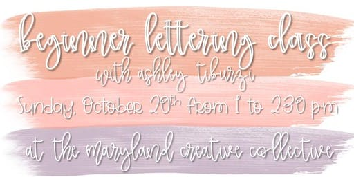 Beginner Lettering Workshop: Baltimore