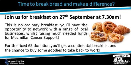 Time to break bread and make a difference? (Networking charity breakfast) tickets