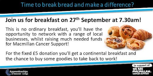 Time to break bread and make a difference? (Networking charity breakfast)