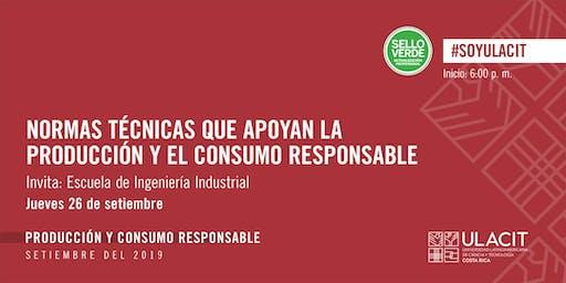 SELLO VERDE: Normas técnicas que apoyan producción y el consumo responsable