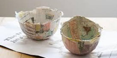 First Sunday- Working with Paper Mache tickets