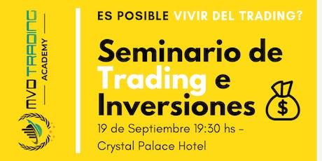 """Último Seminario de Trading del año ''Cómo Vivir del Trading"""" entradas"""