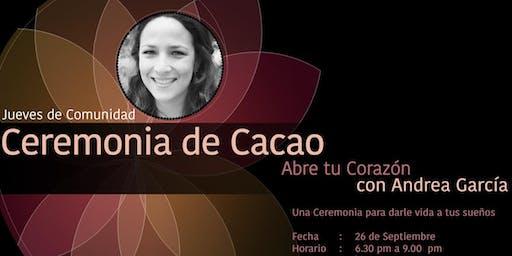 Ceremonia de Cacao con Andrea García