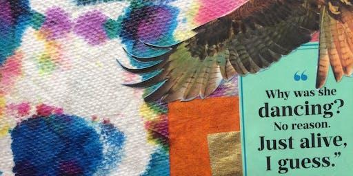 Creative Flow Fridays: DIY stationary - mixed media art play