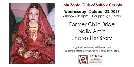 Former Child Bride Naila Amin Shares Her Story tickets