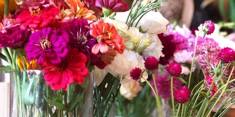 build your own pink bouquet happy hour! tickets