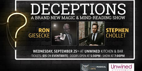 Deceptions: A Magic & Mind-Reading Show tickets