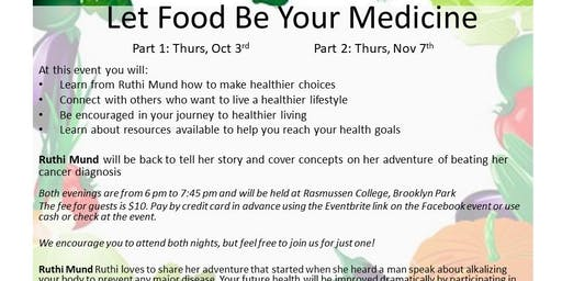 10-3-19 Let Food Be Your Medicine Follow Up Group