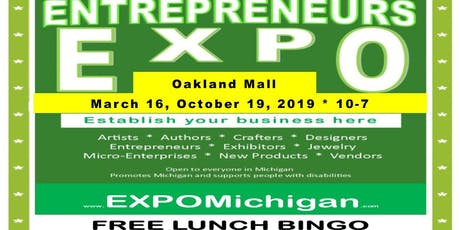 Entrepreneurs EXPO, October 19, Oakland Mall, center hall   (sp) tickets