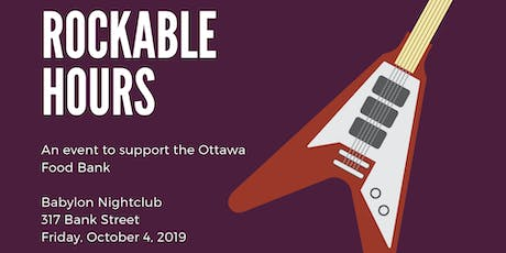 Rockable Hours: a legal charity concert in support of the Ottawa Food Bank tickets