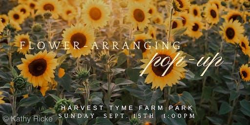 Flower Arranging Workshop at Harvest Tyme Farm