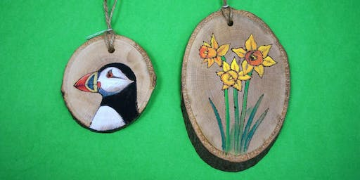 Pyrography and Painting