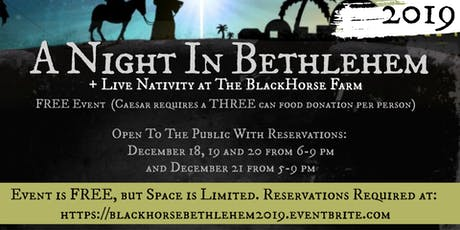 A Night In Bethlehem and Live Nativity (The BlackHorse Farm in Rush, KY) tickets