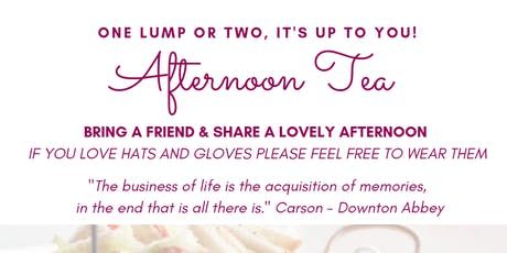 Afternoon Tea tickets
