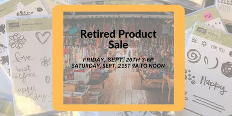 Retired Stampin' Up! Product sale tickets