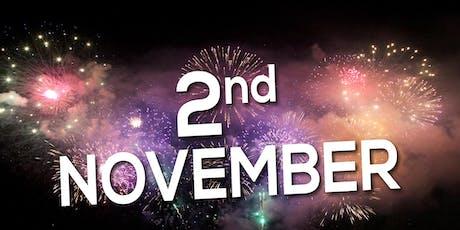 Borehamwood & Elstree Fireworks Display, Saturday 2nd November 2019 (celebration of culture) tickets