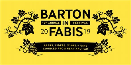 12th Barton Beer Cider Wine & Gin Festival tickets