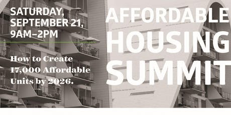 Affordable Housing Summit tickets