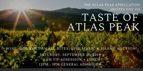 Taste of Atlas Peak tickets