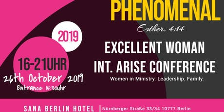 Phenomenal (Excellent Woman Int. Arise Conference) tickets