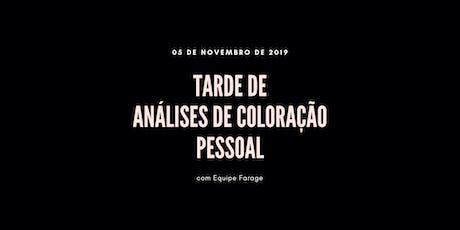 Tarde de Análise de Cor em São Paulo - 05 de novembro ingressos