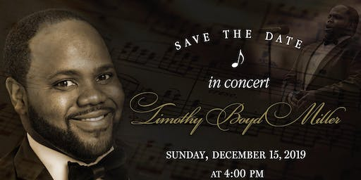 Timothy B. Miller  & Friends Coming Home for Christmas Concert