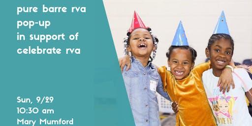 Pure Barre Pop Up for Celebrate RVA