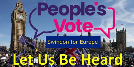 COACH from SWINDON - People's Vote 'Let us be heard' March tickets