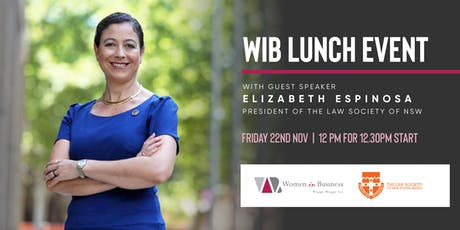 WiB Lunch Event with Elizabeth Espinosa, President of the Law Society of NSW tickets