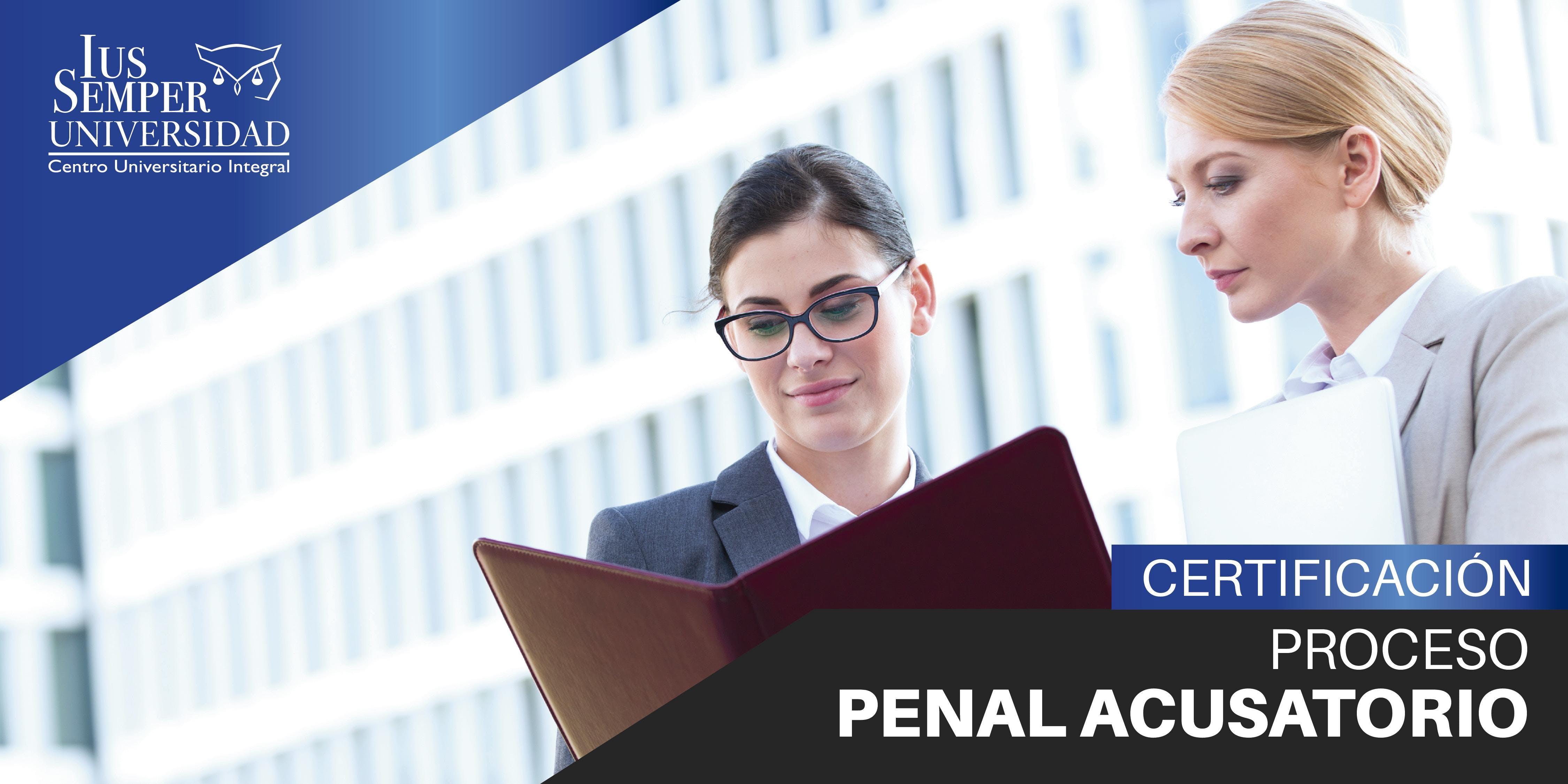 Certificacin Proceso Penal Acusatorio