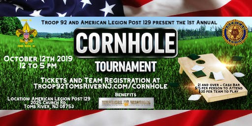 American Legion Post 129  -1st Annual Corn Hole Tournament