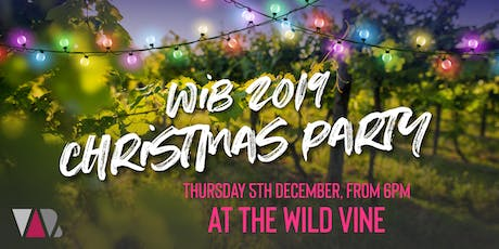 WiB 2019 Christmas Party @ The Wild Vine tickets