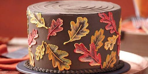 Brushed Leaves Cake
