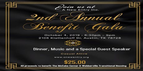 A New Entry, Inc. 2nd Annual Benefit Gala tickets