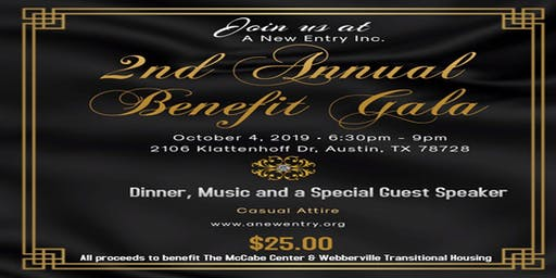 A New Entry, Inc. 2nd Annual Benefit Gala