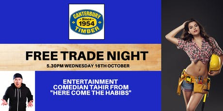 Canterbury  Timber & Building Supplies Trade Night tickets