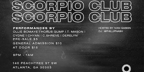 The Scorpio Club tickets