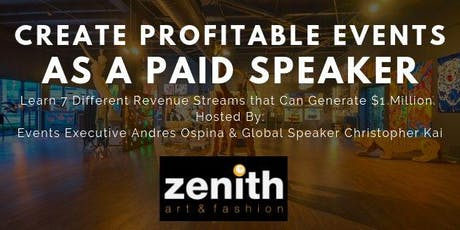 Create Profitable Events as a Paid Speaker tickets