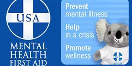 MENTAL HEALTH FIRST AID for Adults/sold out email NAMI.Kauai@yahoo.com tickets
