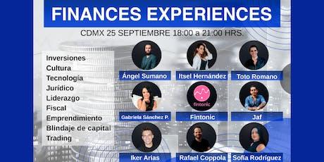 Finances Experiences tickets