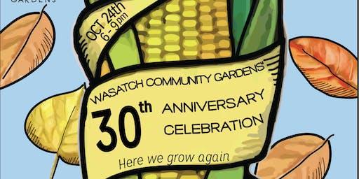 Wasatch Community Gardens' 30th Anniversary Celebration