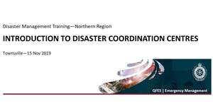 DM Training - Introduction to Disaster Coordination...
