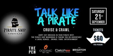 TALK LIKE A PIRATE CRUISE AND CRAWL tickets